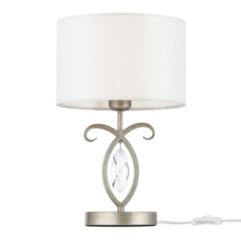 Maytoni-H006TL-01G - Luxe - Cream Shade & Antique Gold Table Lamp