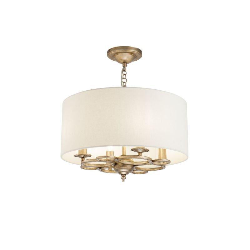 Maytoni-H007PL-04G - Anna - Cream Shade with Antique Gold 4 Light Pendant
