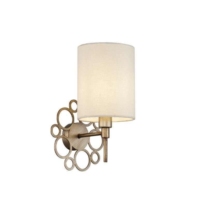 Maytoni-H007WL-01G - Anna - Cream Shade with Antique Gold Wall Lamp