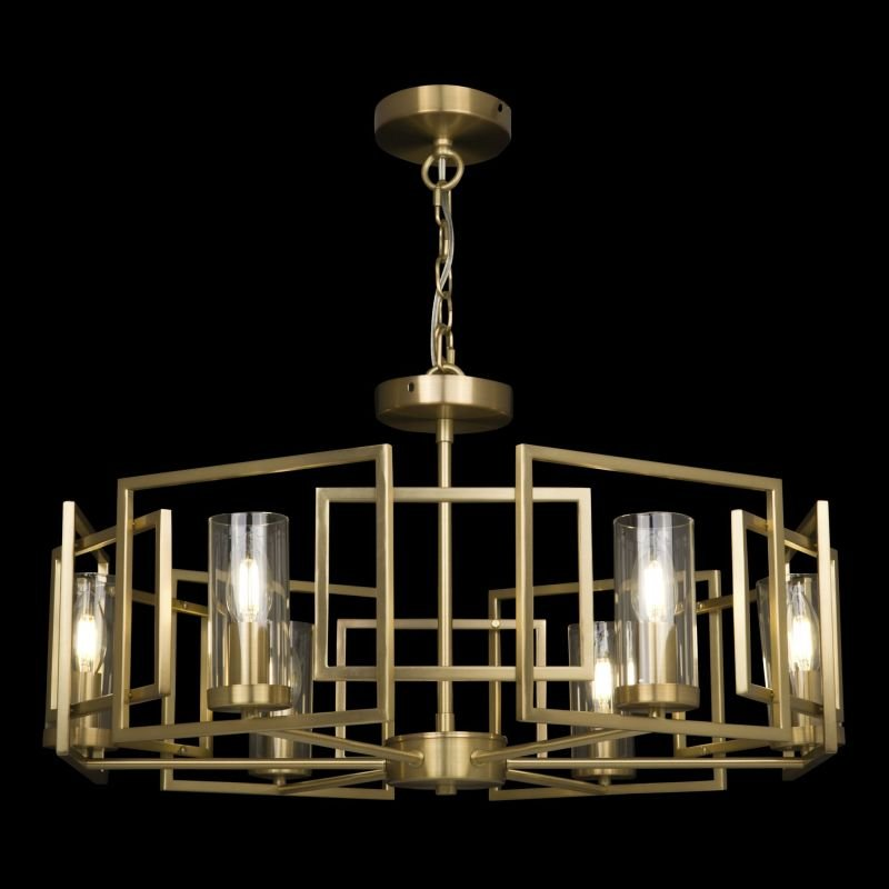 Maytoni-H009PL-06G - Bowi - Clear Glass with Gold 6 Light Centre Fitting