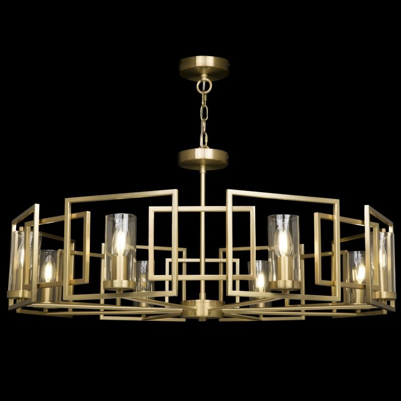 Maytoni-H009PL-08G - Bowi - Clear Glass with Gold 8 Light Centre Fitting