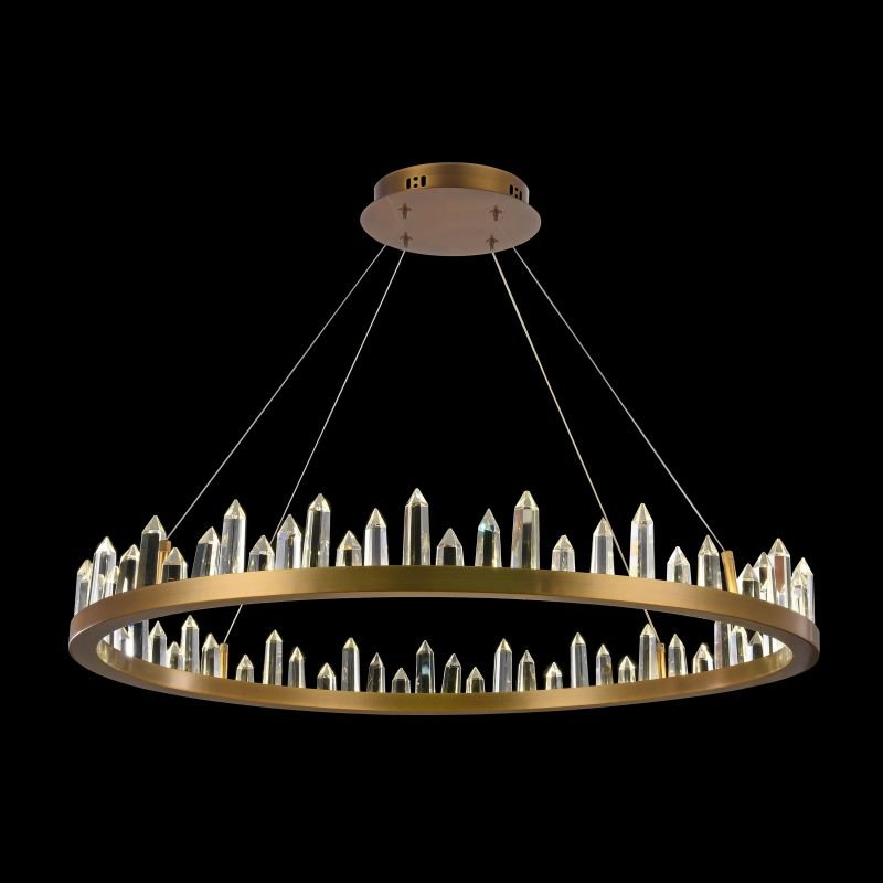 Maytoni-H186-PL-01-61W-BS - Gletscher - Crystal Ring LED Module Pendant Ø 850