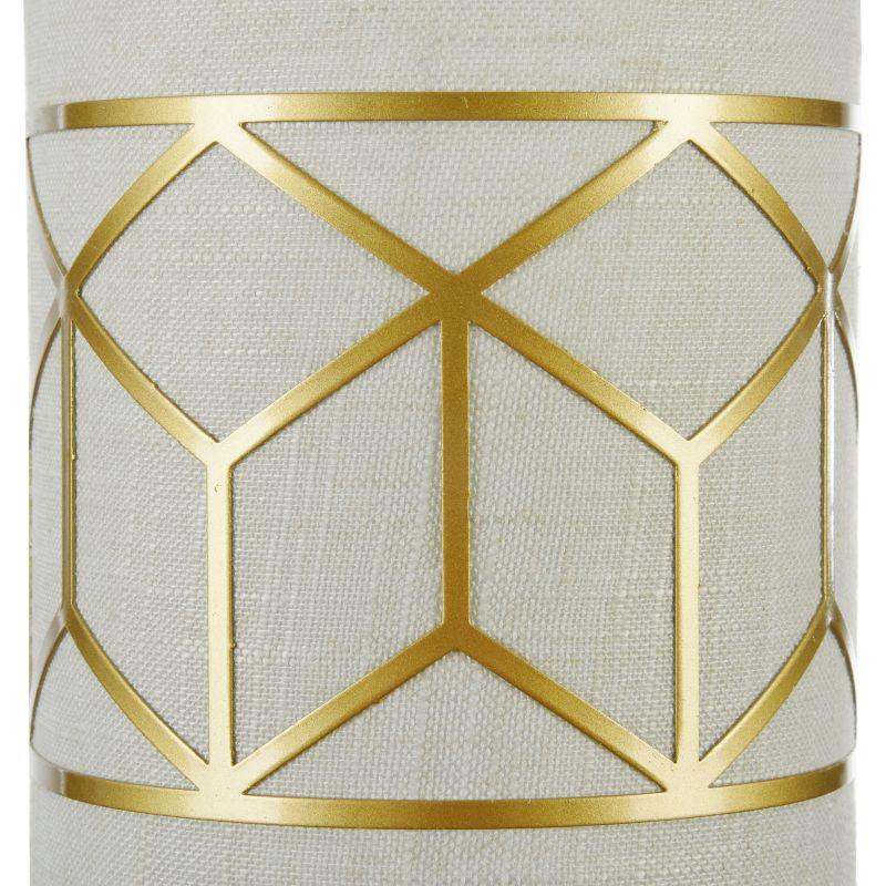 Maytoni-H223-WL-01-G - Messina - Linen with Stencil Pattern Wall Lamp