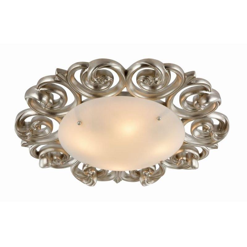 Maytoni-H300-04-G - Lantana - White Glass Flush Ø 55.5 -Pearl Gold