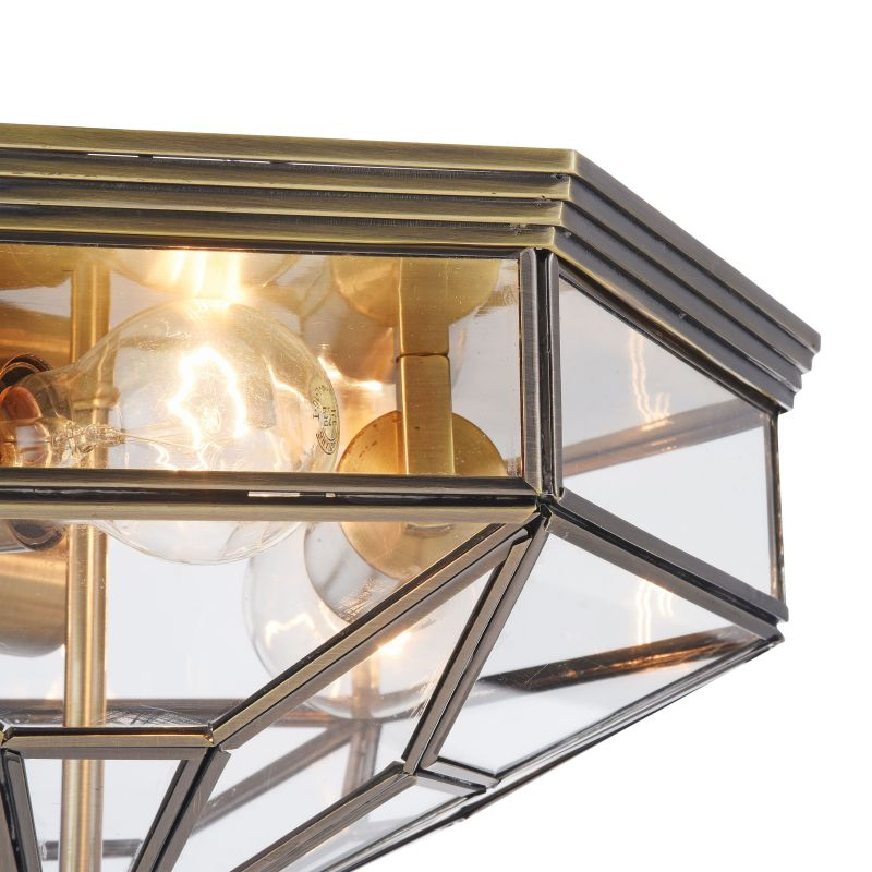 Maytoni-H356-CL-03-BZ - Zeil - Transparent Glass Ceiling lamp -Bronze