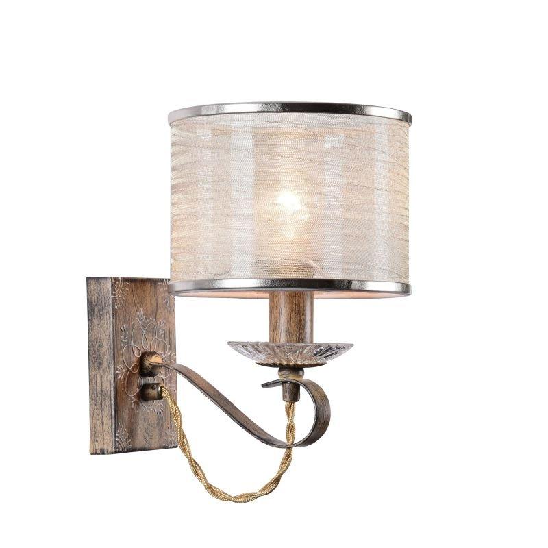 Maytoni-H357-WL-01-BG - Cable - White Organza Wall Lamp- Brown