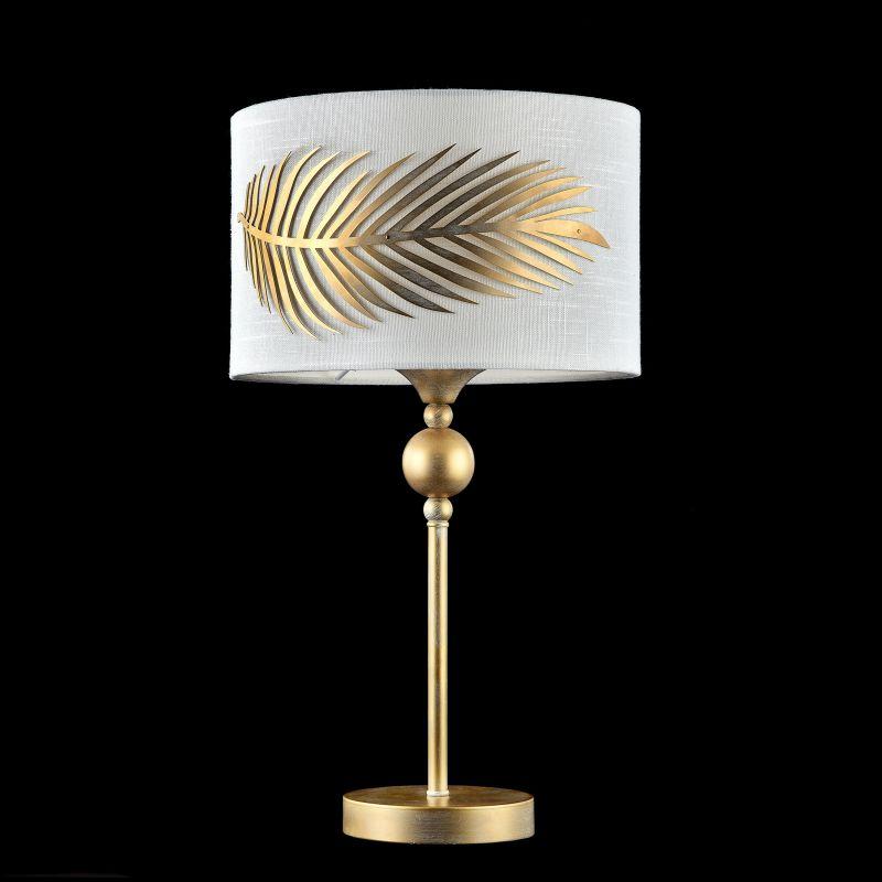Maytoni-H428-TL-01-WG - Farn - Fabric Table Lamp with Stencil Pattern Leaf