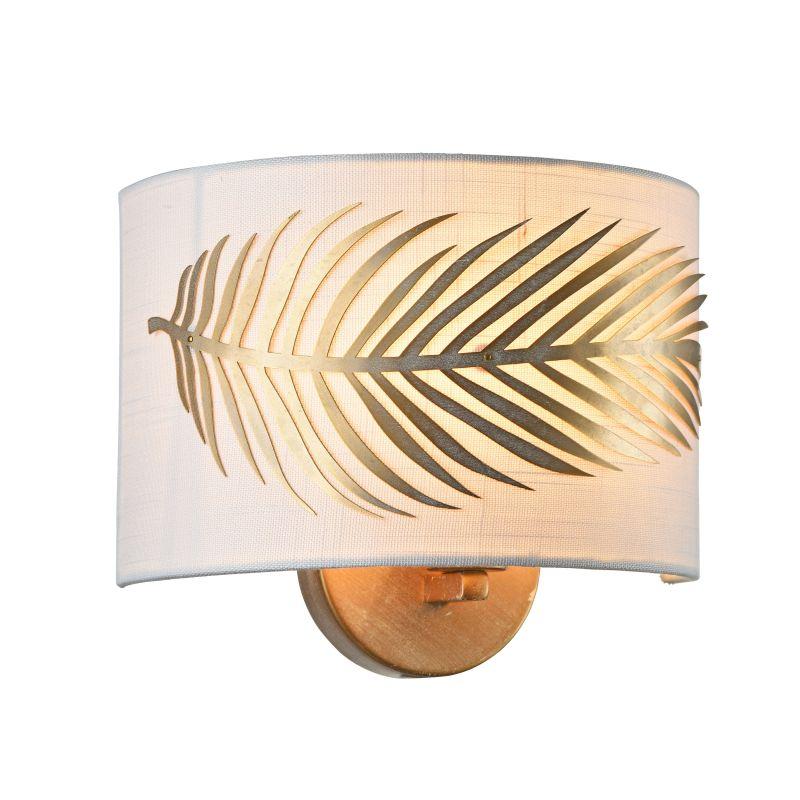 Maytoni-H428-WL-01-WG - Farn - Fabric Wall Lamp with Stencil Pattern Leaf