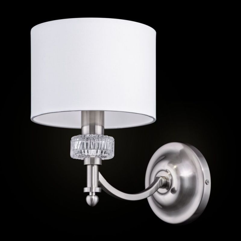 Maytoni-MOD014WL-01N - Alicante - White Shade & Nickel Wall Lamp