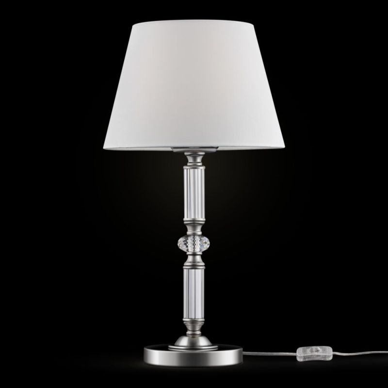 Maytoni-MOD018TL-01CH - Riverside - White & Polished Stainless Steel Table Lamp