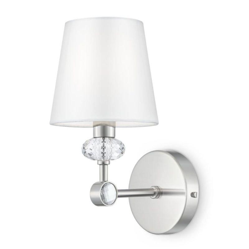 Maytoni-MOD018WL-01CH - Riverside - White & Polished Stainless Steel Wall Lamp