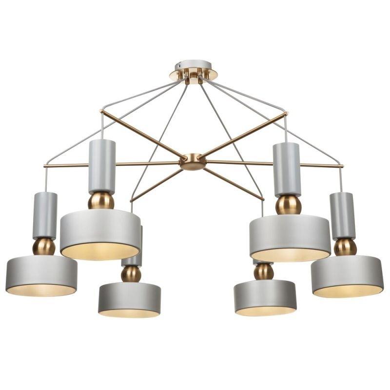 Maytoni-MOD030PL-06GR - Void - Grey & Antique Brass 6 Light Centre Fitting