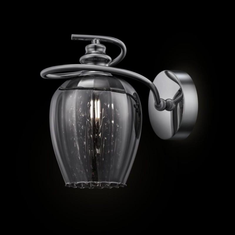 Maytoni-MOD033-WL-01-N - Blues - Smoky Glass Single Wall Lamp -Crystal
