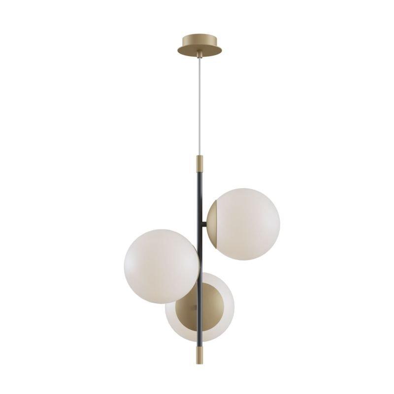 Maytoni-MOD048PL-03G - Nostalgia - White & Black and Gold 3 Light Centre Fitting