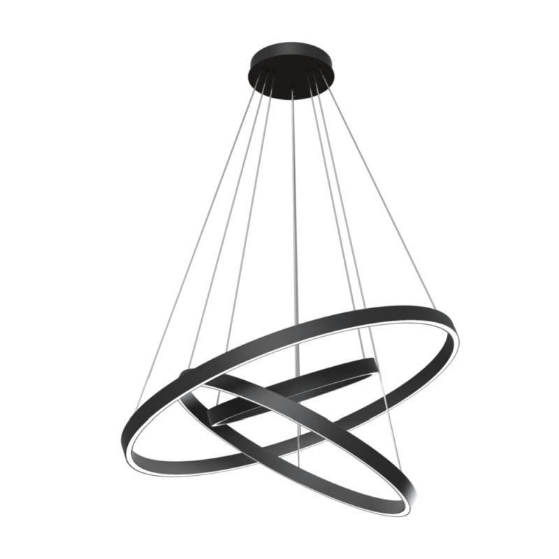 Maytoni-MOD058PL-L100B4K - Rim - LED Black 3 Metal Rings Pendant