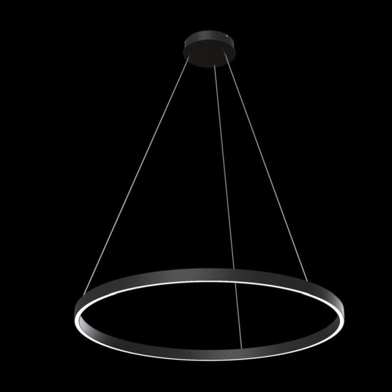Maytoni-MOD058PL-L42B4K - Rim - LED Black Metal Ring Pendant Ø80