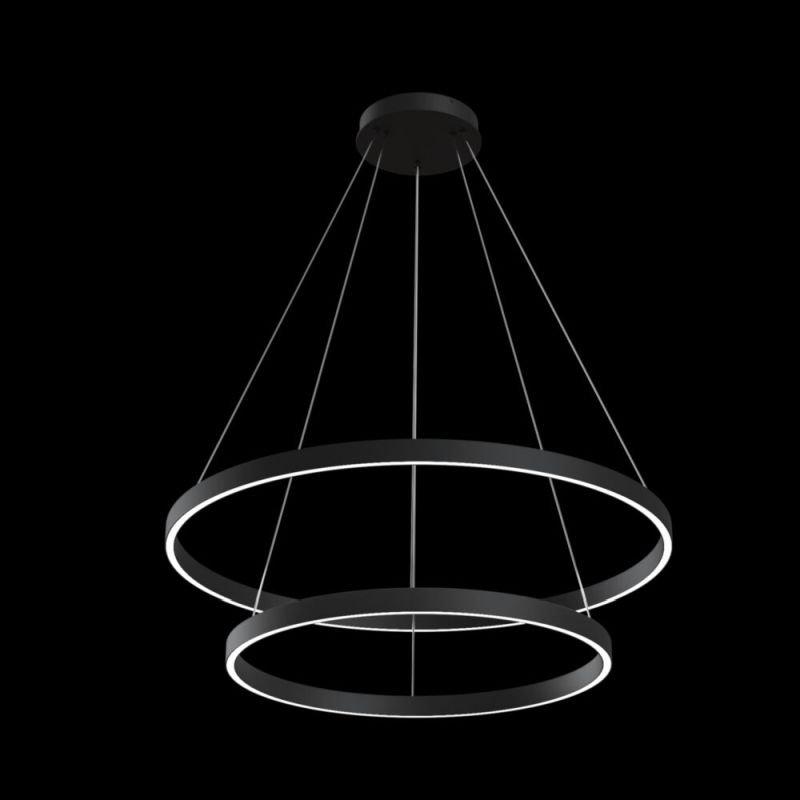 Maytoni-MOD058PL-L74B4K - Rim - LED Black 2 Metal Rings Pendant