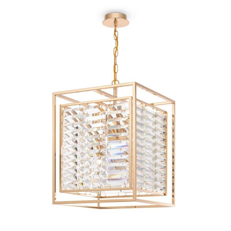 Maytoni-MOD060PL-04G - Tening - Crystal & Gold 4 Light Lantern Pendant