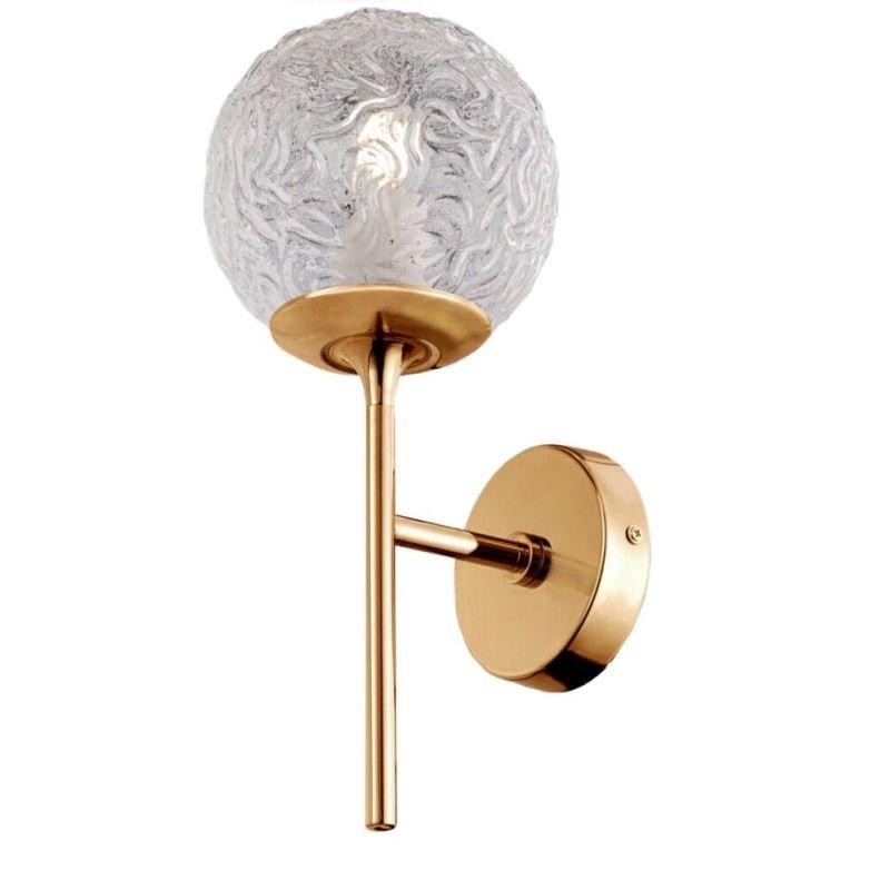 Maytoni-MOD061WL-01BS - Ligero - Decorative Glass & Matt Gold Wall Lamp