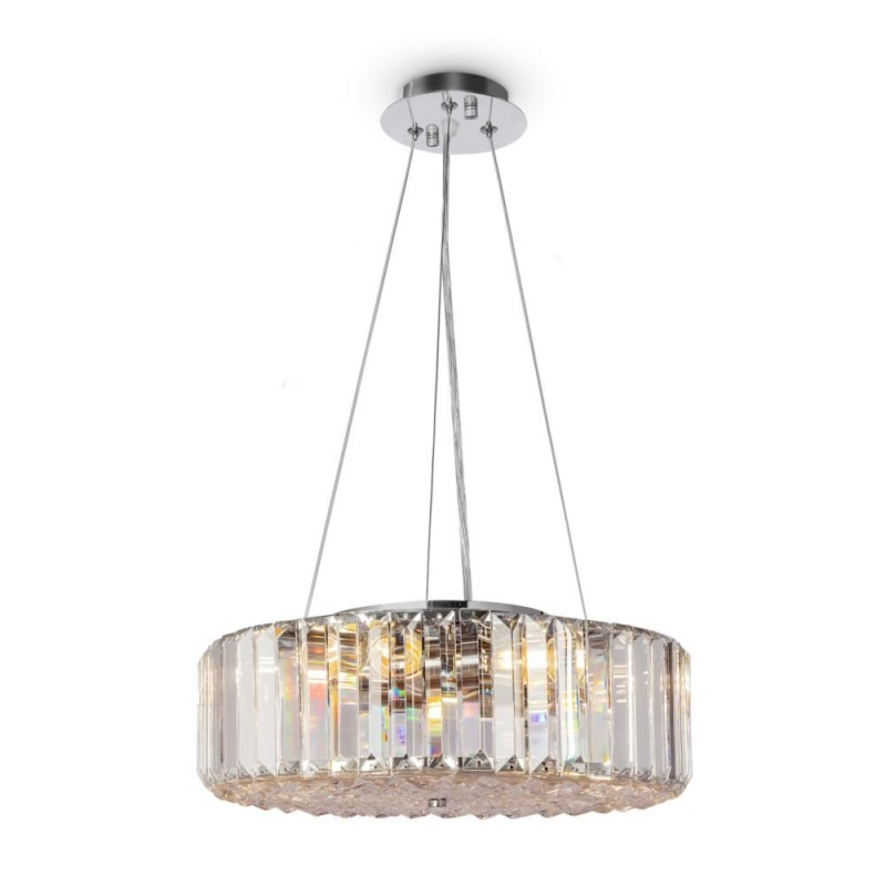 Maytoni-MOD080CL-06CH - Recinto - Crystal & Chrome 6 Light Pendant with Decorative Diffuser