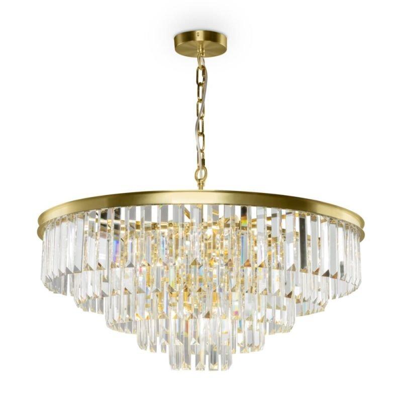 Maytoni-MOD085PL-12BS - Revero - Crystal & Painted Gold 12 Light Chandelier