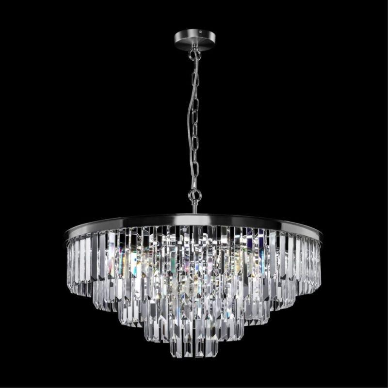 Maytoni-MOD085PL-12CH - Revero - Crystal & Painted Chrome 12 Light Chandelier
