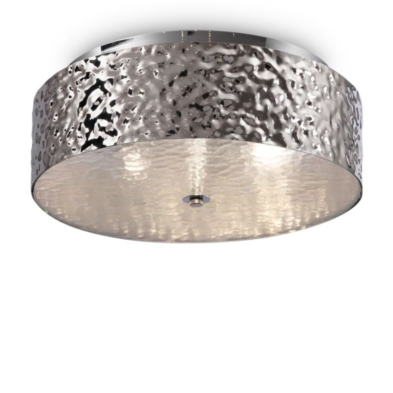 Maytoni-MOD096CL-03CH - Ripple - Decorative Frosted Glass & Chrome 3 Light Ceiling Lamp