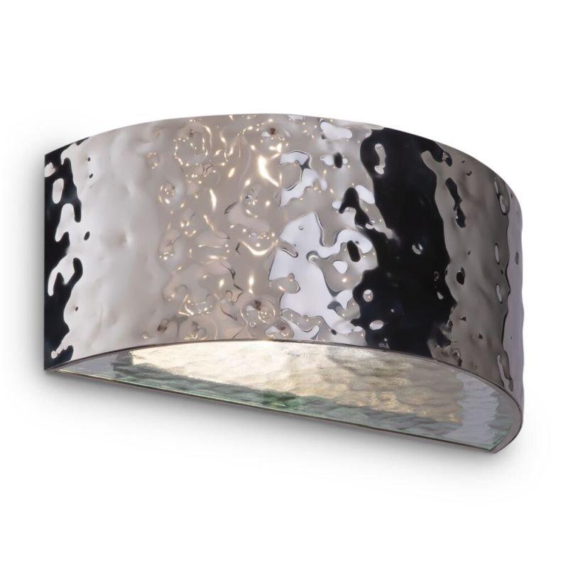 Maytoni-MOD096WL-01CH - Ripple - Decorative Frosted Glass & Chrome Wall Lamp