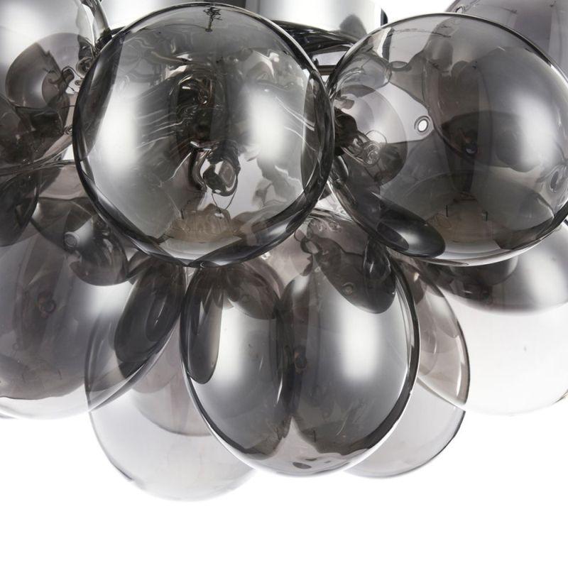 Maytoni-MOD112-04-N - Balbo - Modern Smoky Glass 4 Light Ceiling Lamp -Nickel