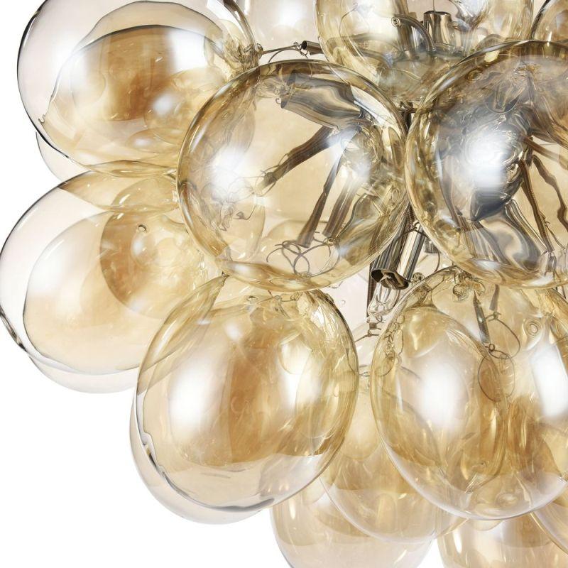 Maytoni-MOD112-08-G - Balbo - Modern Amber Glass 8 Light Hanging Pendant -Nickel