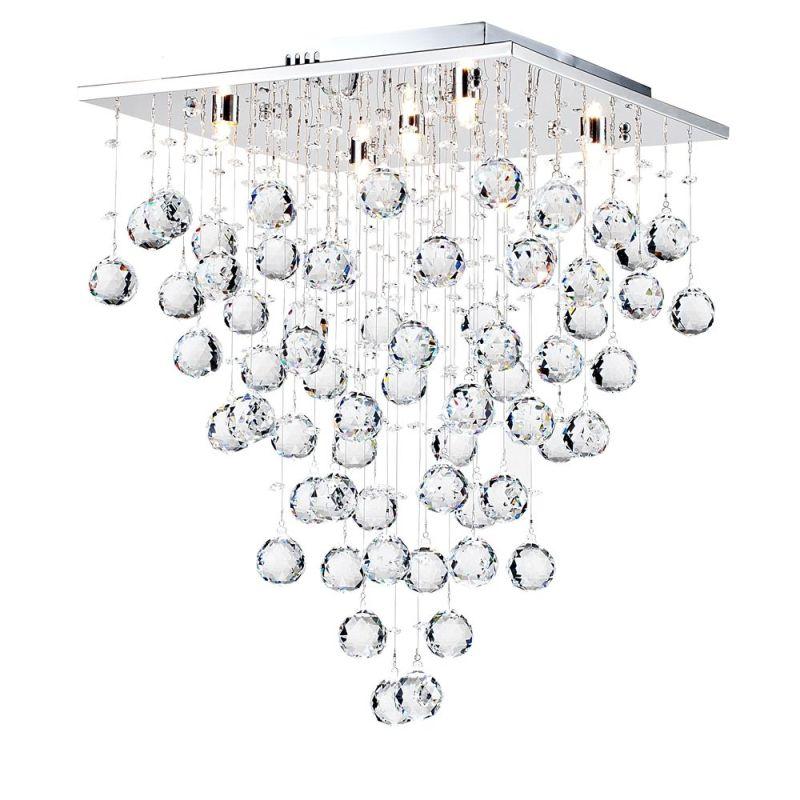 Maytoni-MOD217-40-N - Swirl - Crystal 5 Light Ceiling Light -Chrome
