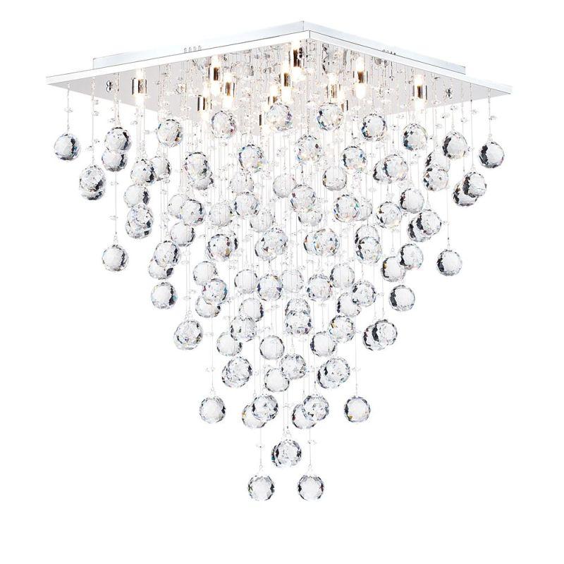 Maytoni-MOD217-50-N - Swirl - Crystal 12 Light Ceiling Light -Chrome