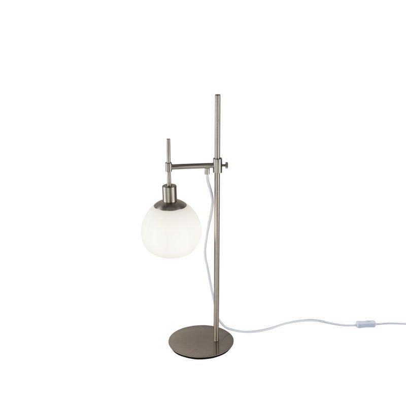 Maytoni-MOD221-TL-01-N - Erich - White Glass Ball & Nickel Table Lamp