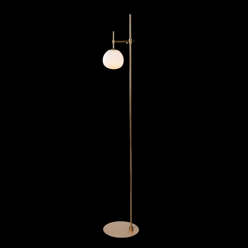 Maytoni-MOD221-FL-01-G - Erich - Glass Ball Floor Lamp -Brass