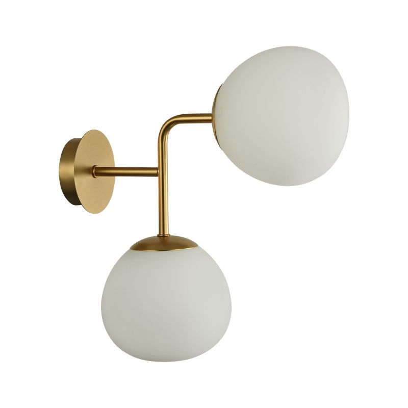 Maytoni-MOD221-WL-02-G - Erich - Glass Ball Twin Wall Lamp -Brass