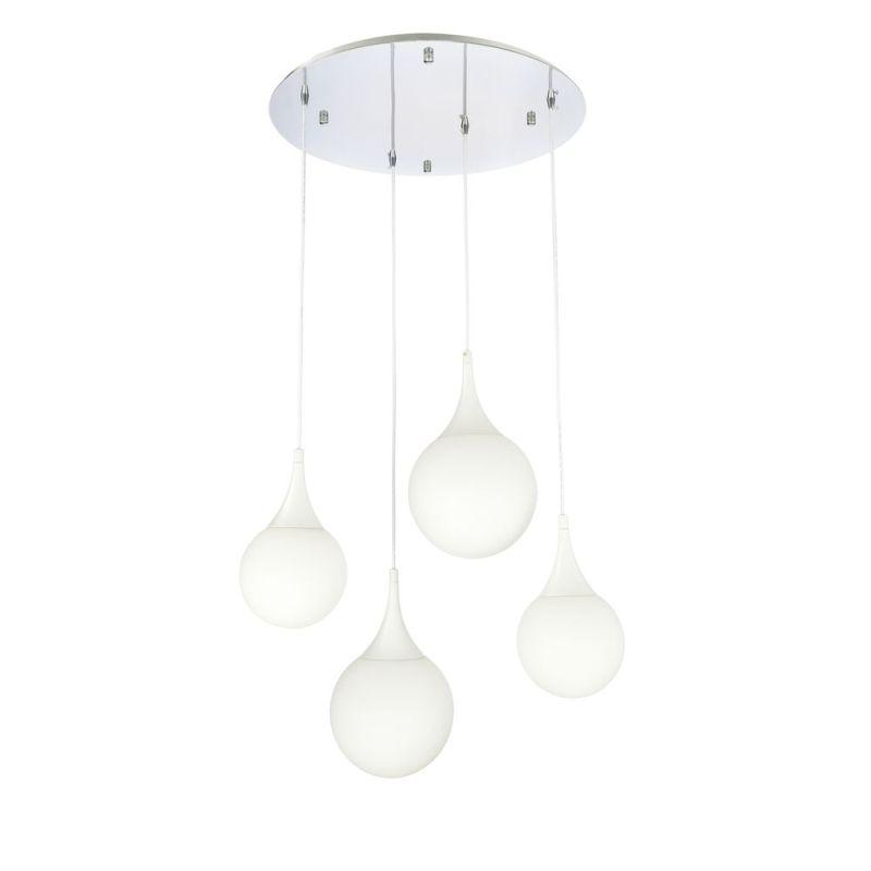 Maytoni-P225-PL-150-N - Dewdrop - White Glass Multi Globe 4 Light Cluster Pendant