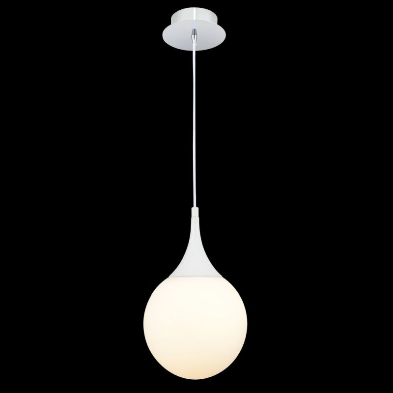 Maytoni-P225-PL-200-N - Dewdrop - White Glass Globe Small Hanging Pendant