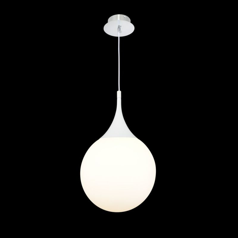Maytoni-P225-PL-300-N - Dewdrop - White Glass Globe Medium Hanging Pendant