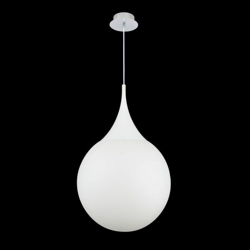 Maytoni-P225-PL-400-N - Dewdrop - White Glass Globe Big Hanging Pendant