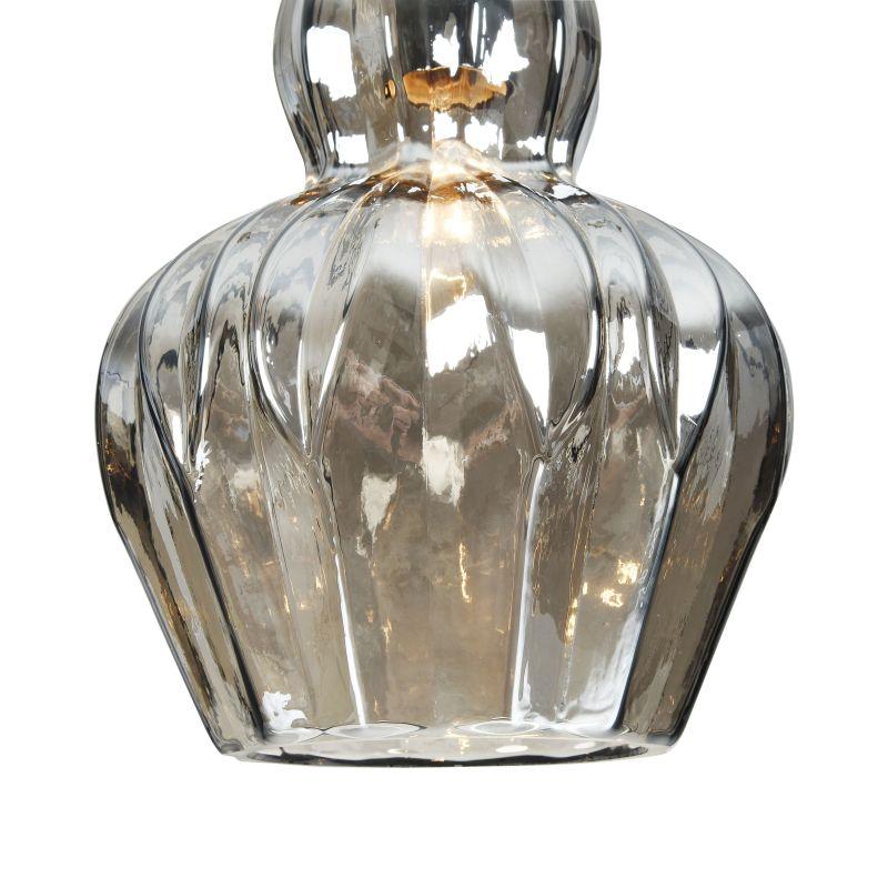 Maytoni-MOD238-PL-01-B - Eustoma - Smoky Glass Single Pendant- Nickel
