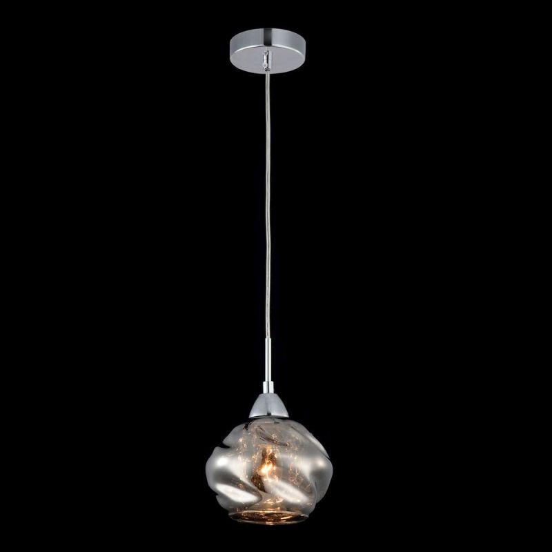 Maytoni-P244-PL-01-N - Haze - Smoky Dull Glass with Crystal Single Pendant