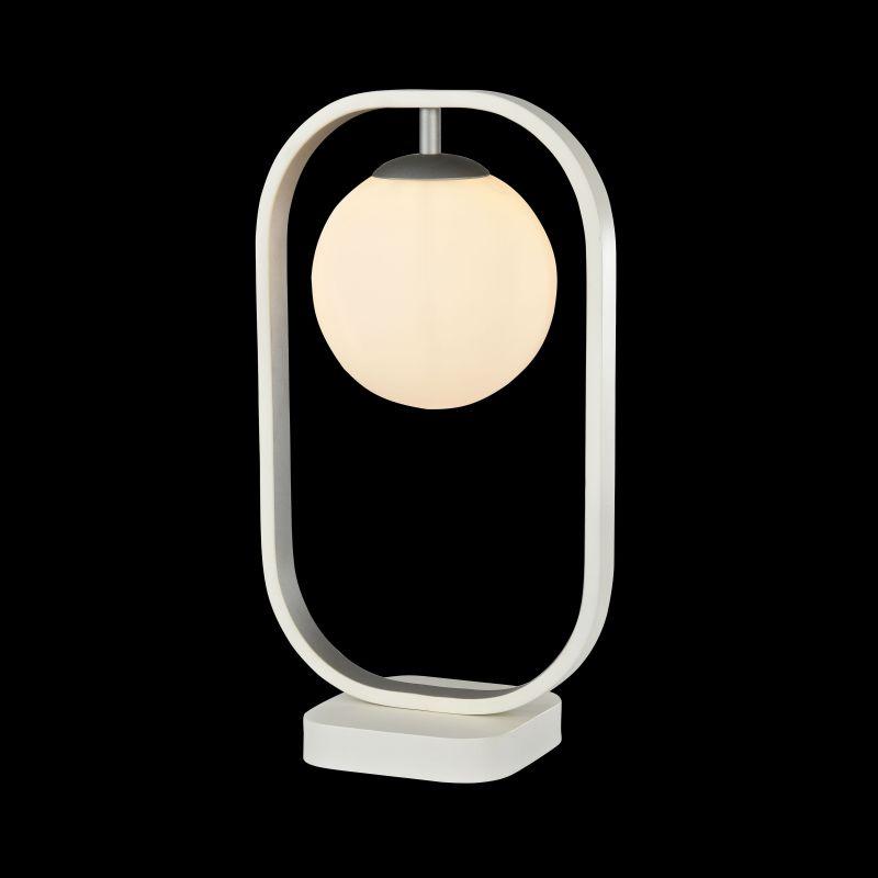 Maytoni-MOD431-TL-01-WS - Avola - Globe White with Silver Table Lamp