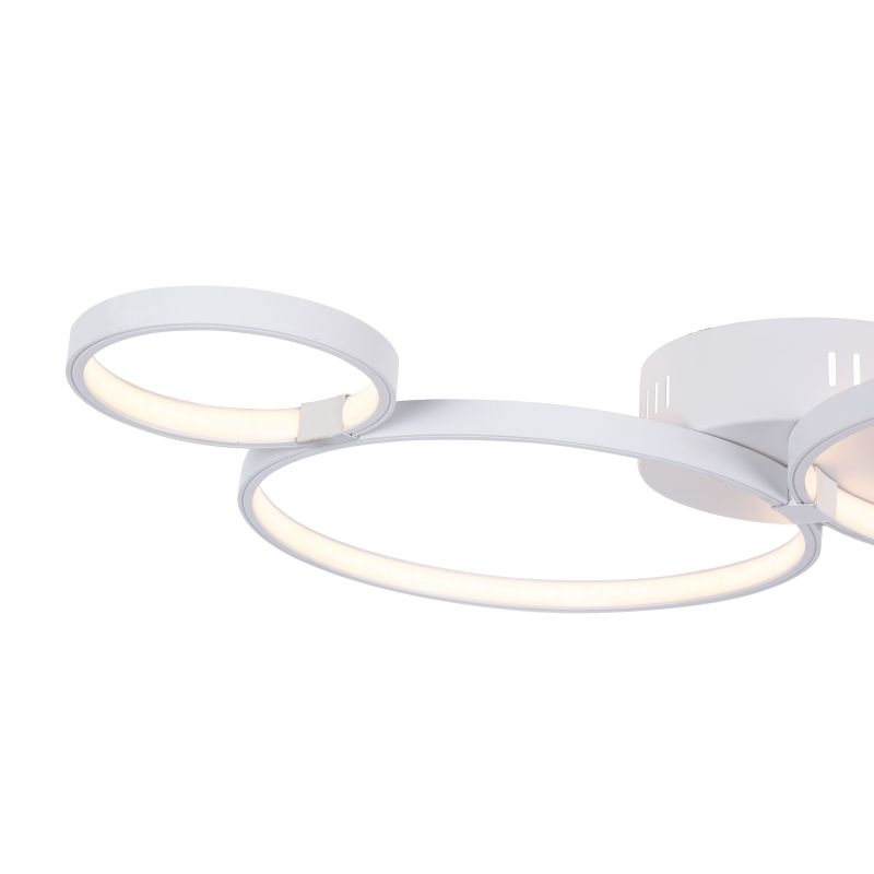 Maytoni-MOD448-CL-4-30-W - Olympia - Small Modern Rings LED Module Semi-Flush- White