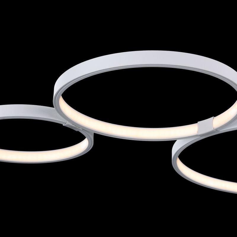 Maytoni-MOD448-CL-5-45-W - Olympia - Big Modern Rings LED Module Semi-Flush- White