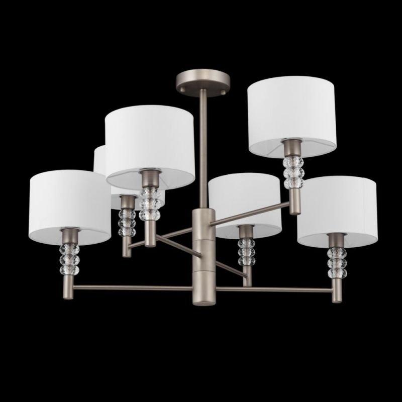 Maytoni-MOD527PL-06N - Lincoln - White & Nickel 6 Light Centre Fitting