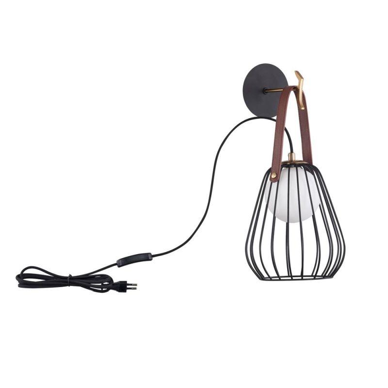 Maytoni-MOD544WL-01B - Indiana - Vintage Black & White Glass Wall Lamp