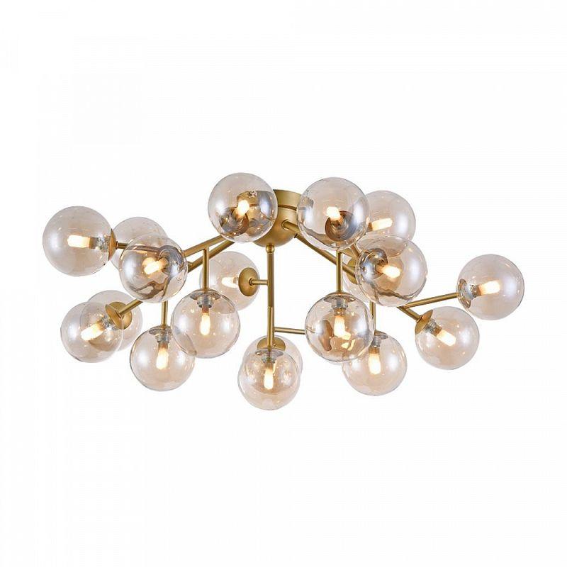 Maytoni-MOD545PL-20G - Dallas - Modern Amber Glass 20 Light Ceiling Lamp -Gold