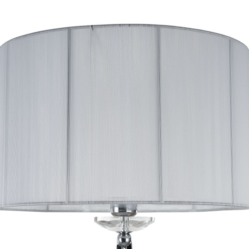 Maytoni-MOD602-FL-01-N - Miraggio - White Fabric with Chrome & Crystal Floor Lamp