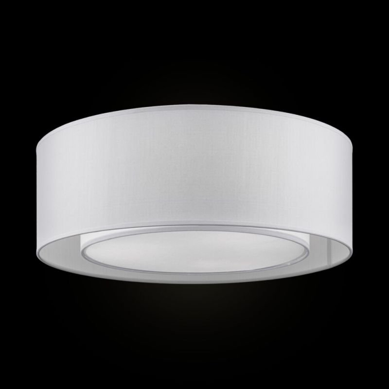 Maytoni-MOD617CL-04GR - Bergamo - Light Grey Fabric with Diffuser Flush