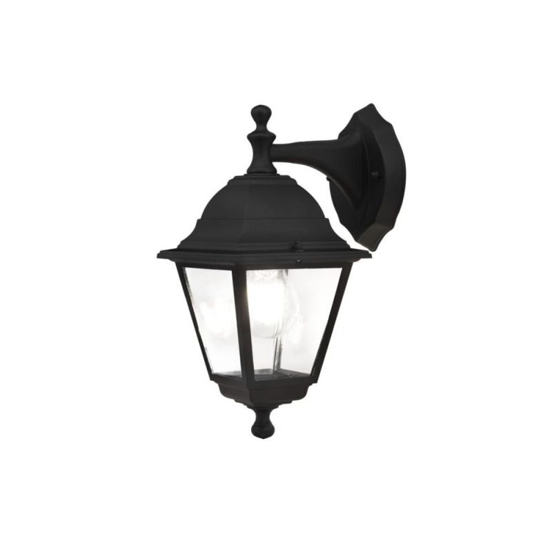 Maytoni-O003WL-01B - Abbey Road - Outdoor Black and Clear Glass Downlight Wall Lamp